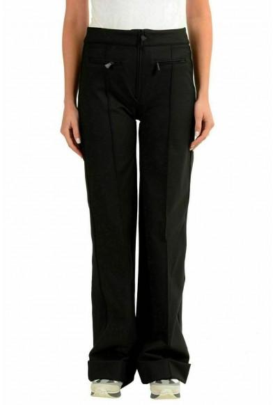 Moncler Women's Black Wide Leg Winter Casual Pants
