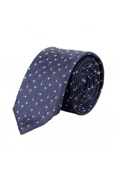 Hugo Boss Men's Multi-Color Logo Print 100% Silk Tie