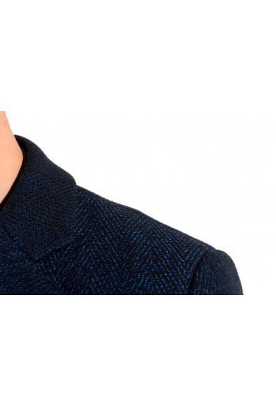 "Hugo Boss Men's ""Nye2""Slim Fit Blue Wool Button Down Coat: Picture 2"