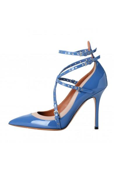 Valentino Garavani Women's Leather Blue Ankle Strap Pumps Shoes: Picture 2
