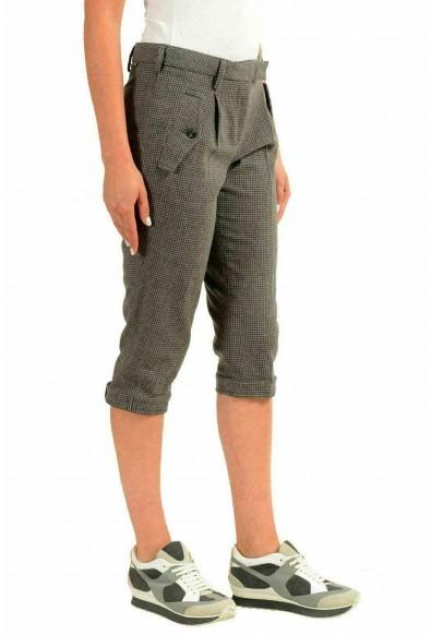 Moncler Women's 100% Wool Plaid Cropped Capris Pants: Picture 2