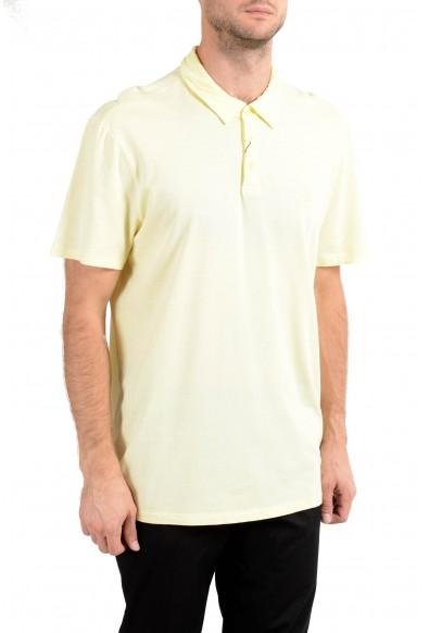 John Varvatos Star USA Men's Yellow Short Sleeve Polo Shirt : Picture 2