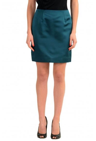 Versace Green 100% Silk Green Women's Mini Skirt