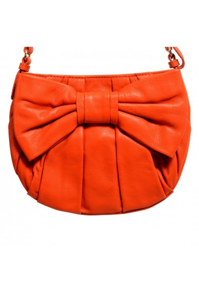 Red Valentino Women's Orange 100% Leather Bow Decorated Shoulder Bag: Picture 2