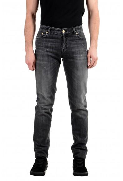 Versace Versus Men's Gray Stretch Skinny Jeans