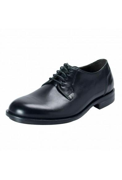 A. Testoni Basic Men's Leather Black Lace Up Oxford Shoes
