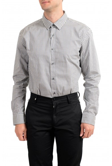 """Hugo Boss Men's """"Ronni_4"""" Slim Fit Plaid Long Sleeve Casual Shirt : Picture 2"""