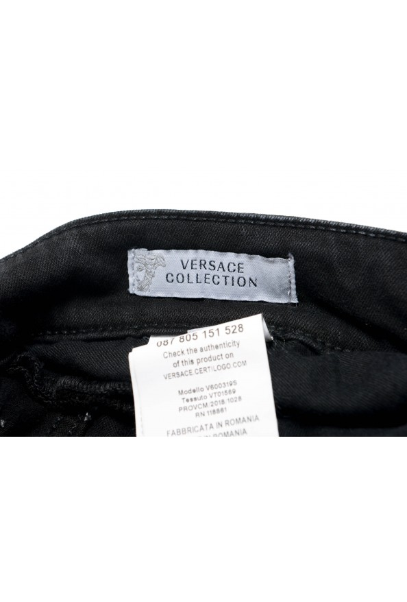 Versace Collection Men's Gray Slim Jeans: Picture 4