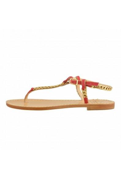 """Emanuela Caruso """"Capri"""" Women's Golden Chain Flat Sandals Shoes: Picture 2"""