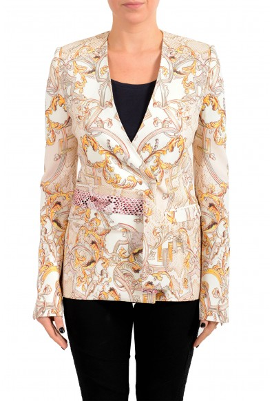 Just Cavalli Women's Multi-Color Floral Print One Button Blazer