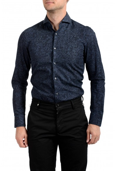 "Hugo Boss Men's ""Dwayne"" Slim Fit Graphic Long Sleeve Dress Shirt: Picture 2"