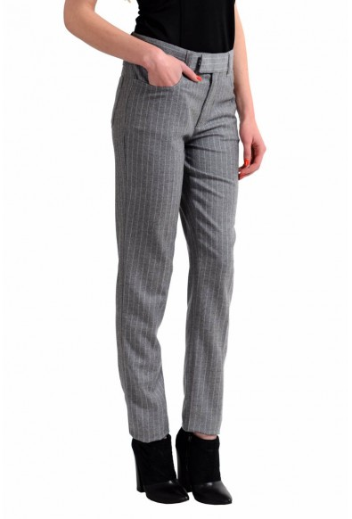 Tom Ford Wool Cashmere Gray Striped Women's Casual Pants: Picture 2