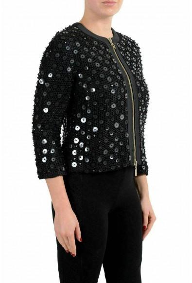 Moncler Gamme Rouge Women's KARI Black Silk Embellished Blazer: Picture 2