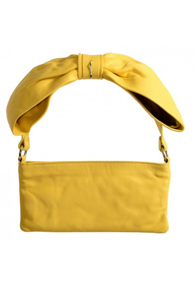 Red Valentino Women's Yellow 100% Leather Shoulder Bag Clutch