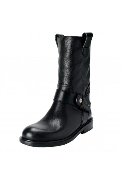 Jimmy Choo Paddox Men's Leather Black Biker Boots Shoes