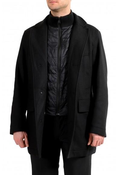 "Hugo Boss Men's ""Caelis"" Black Insulated Wool Cashmere Coat"