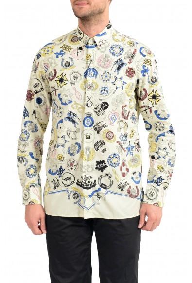 "Burberry Men's ""DUNBAR"" Multi-Color Graphic Print Long Sleeve Shirt"