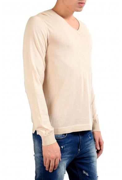 Malo Men's Cream White V-Neck Light Sweater: Picture 2