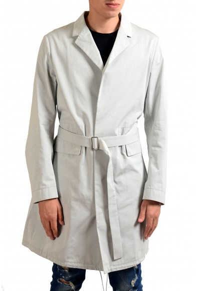 Jil Sander Men's Gray Button Up Belted Trench Coat
