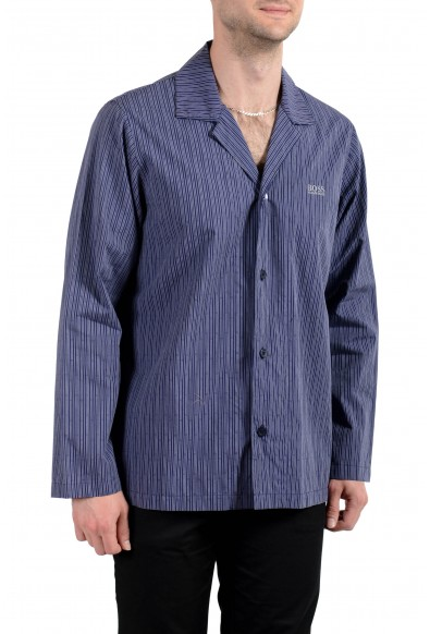 Hugo Boss Men's Striped Long Sleeve Cotton Pajama Shirt: Picture 2
