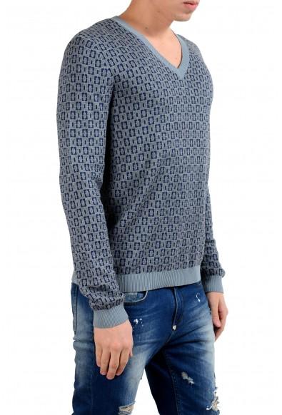 Malo Men's Cashmere Silk Jacquard V-Neck Sweater: Picture 2