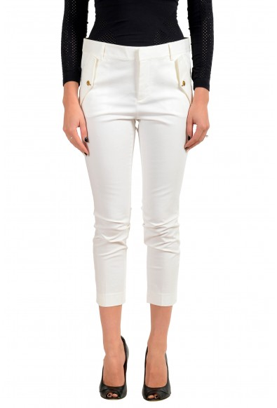 Dsquared2 Women's White Cropped Casual Pants