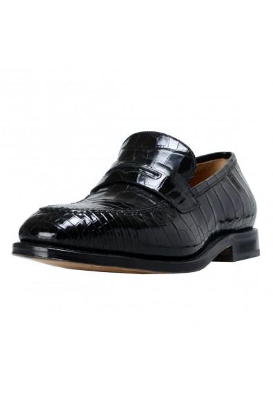 """Salvatore Ferragamo Men's """"Tito"""" Croc Leather Loafers Shoes"""