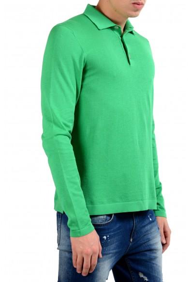 Malo Men's Shamrock Green Polo Light Sweater: Picture 2