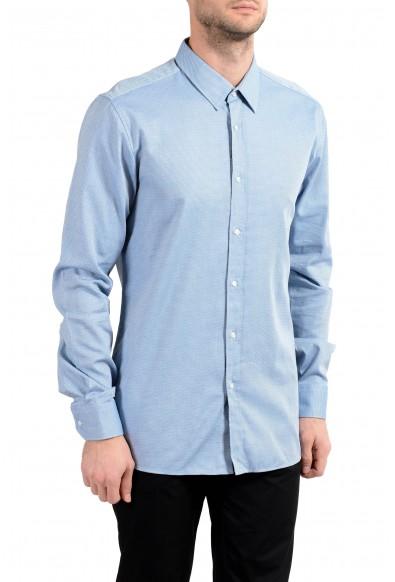 "Hugo Boss ""Elisha01"" Men's Slim Bluish Long Sleeve Dress Shirt"