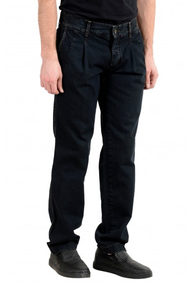 Dolce & Gabbana Men's Off Black Pleated Front Denim Casual Pants : Picture 2