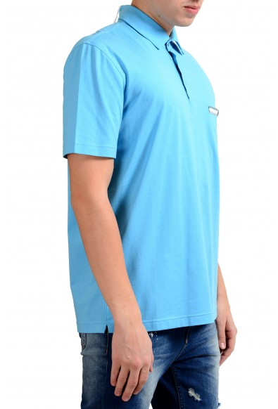 Malo Men's Sky Blue Stretch Short Sleeve Polo Shirt : Picture 2