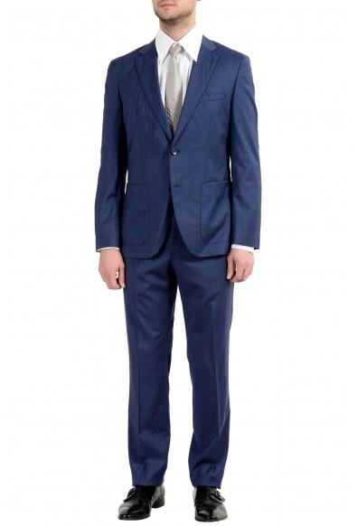 """Hugo Boss """"Jalston/Lenon1"""" Men's 100% Wool Blue Two Button Suit"""