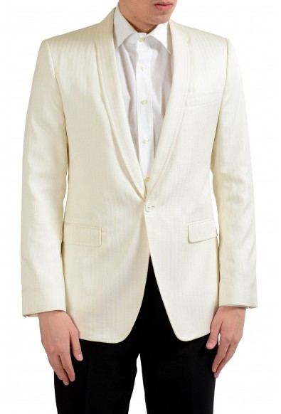 "Dolce & Gabbana ""Martini"" Men's Off White Striped Blazer Sport Coat"