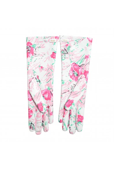 Prada Women's 100% Lambskin Leather 1GG053 Floral Print Gloves: Picture 2