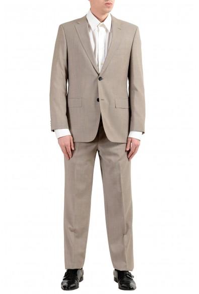 "Hugo Boss ""C-Pasini/C-Movie"" Men's 100% Wool Beige Two Button Suit"