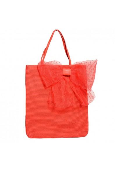 Red Valentino Women's Coral Pink Tote Handbag Shoulder Bag