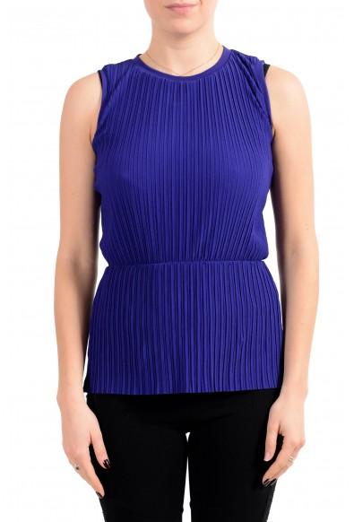 "Hugo Boss Women's ""Emirna"" Purple Stretch Blouse Top"