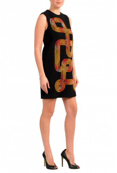 Versace Collection Women's Black Embellished Shift Mini Dress: Picture 2