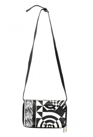 Versace Women's Saffiano Leather Shoulder Clutch Handbag Bag Wallet