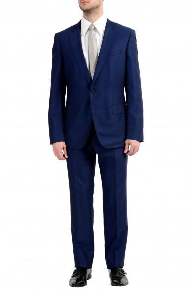 "Hugo Boss ""Huge6/Genius4"" Men's 100% Wool Slim Blue Two Button Suit"