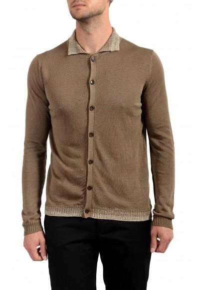 Malo Men's 100% Linen Cardigan Light Sweater