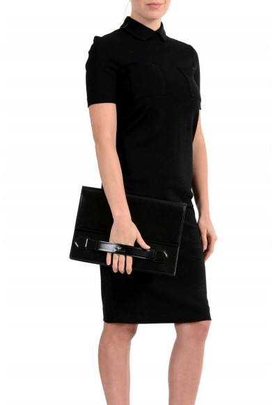 Versace 100% Leather Black Women's Clutch Bag: Picture 2