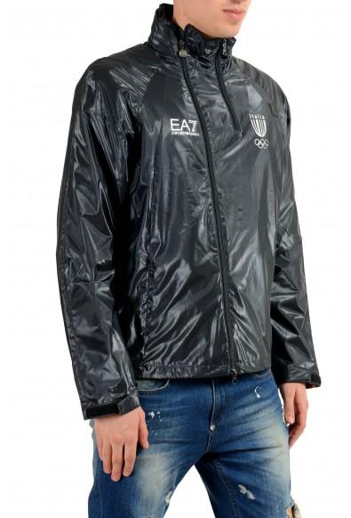 "Emporio Armani EA7 ""Italia Team"" Men's Blue Full Zip Hooded Windbreaker Jacket: Picture 2"