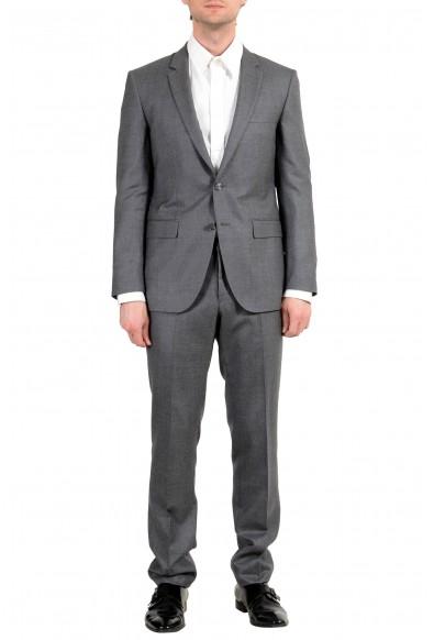 "Hugo Boss ""T-Harvers2/Glover1"" Men's Silk Wool Gray Two Button Suit"