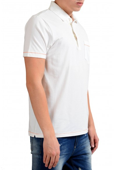 Malo Men's Stretch White Short Sleeve Polo Shirt: Picture 2