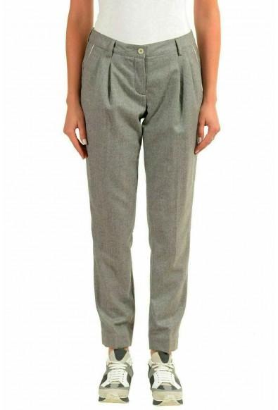 Moncler Women's 100% Wool Gray Casual Pants