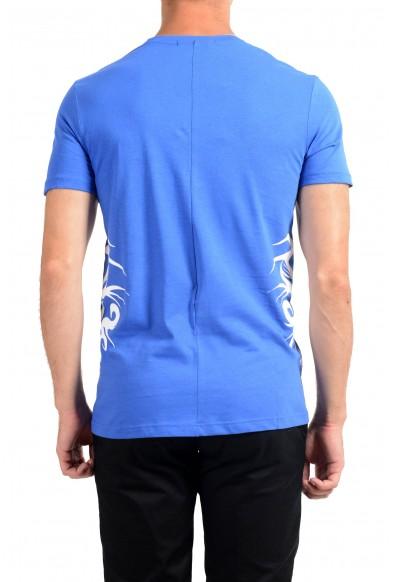Roberto Cavalli Men's Royal Blue Crewneck T-Shirt : Picture 2