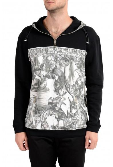 Versace Collection Men's Designed 1/2 Zip Hoodie