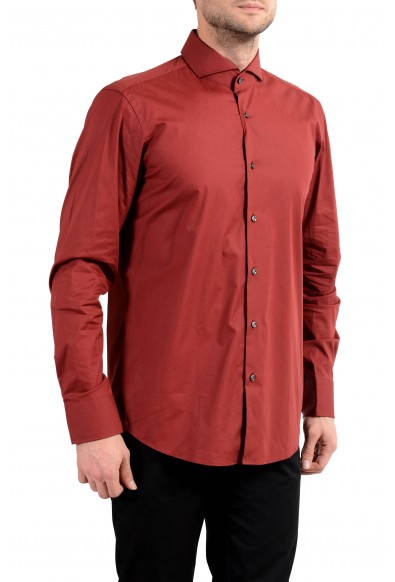 "Hugo Boss ""C-Epic"" Men's Red Regular Fit Long Sleeve Dress Shirt"