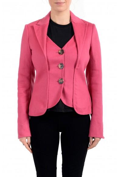 John Galliano Women's Pink Wool Cashmere Button Down Jacket